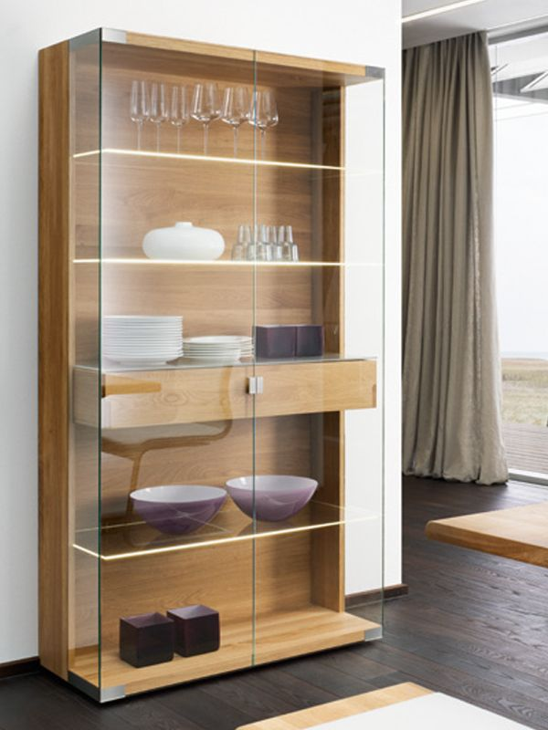 nox display cabinet by team 7 nat rlich wohnen design. Black Bedroom Furniture Sets. Home Design Ideas