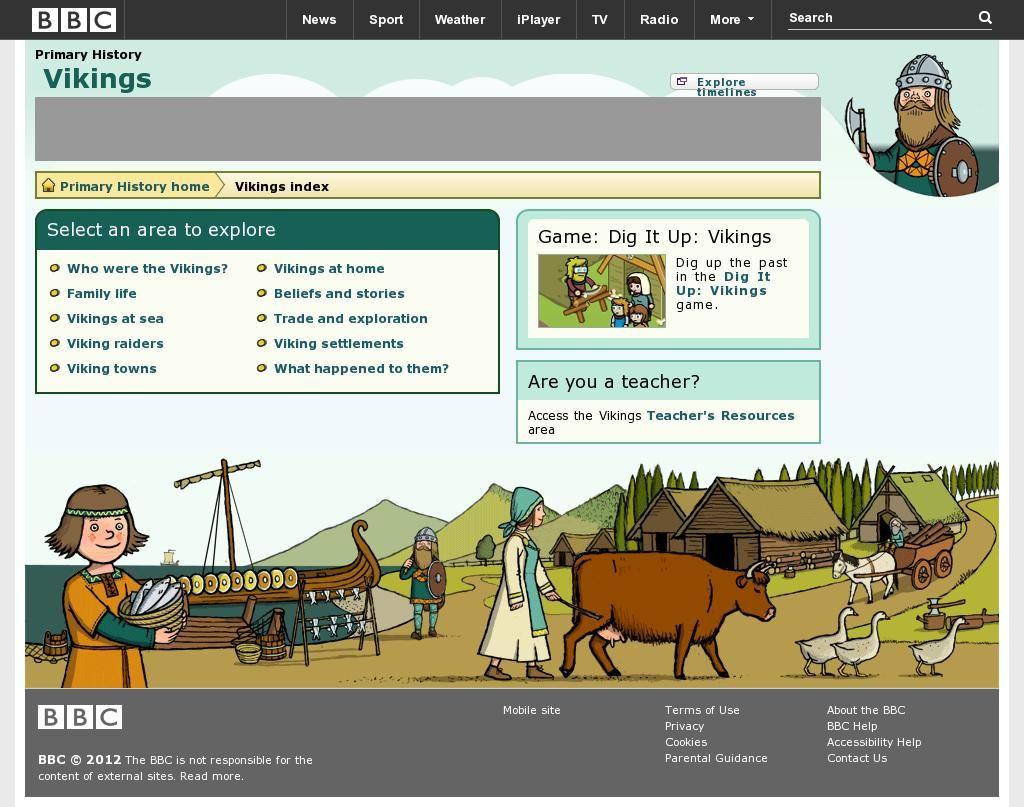 Viking History Website By Bbc