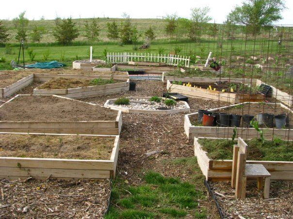 My raised garden beds....but now we moved...time to start all over again. But gonna tweak these a bit....they need seats on them.
