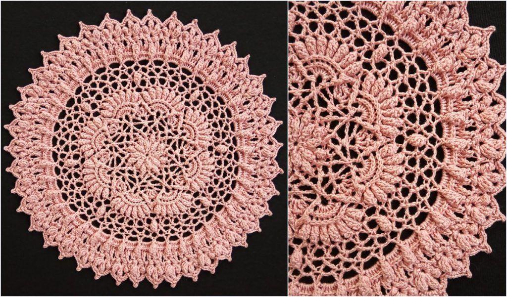 Margrete Doily Free Crochet Pattern in 2020 | Doily ...