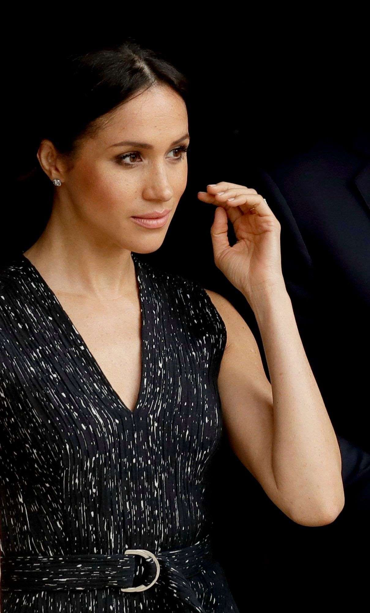 Meghan Markle talking on a cell phone Meghan Markle