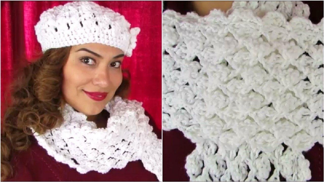 How To Crochet ♥ Scarf Tutorial ♥ Delicate Pattern | horgolt divat ...