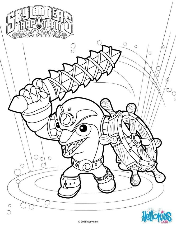 Gill Grunt Coloring Page From Skylanders Superchargers Video Game More Skylanders Coloring Sheets On Cute Coloring Pages Coloring Pages Crayola Coloring Pages