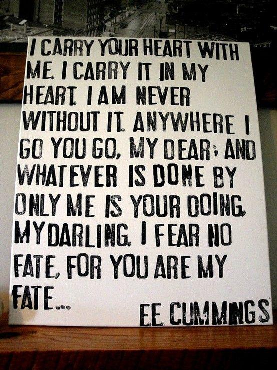 E Cummings My Absolute Favorite Poem Ever RIP Dad