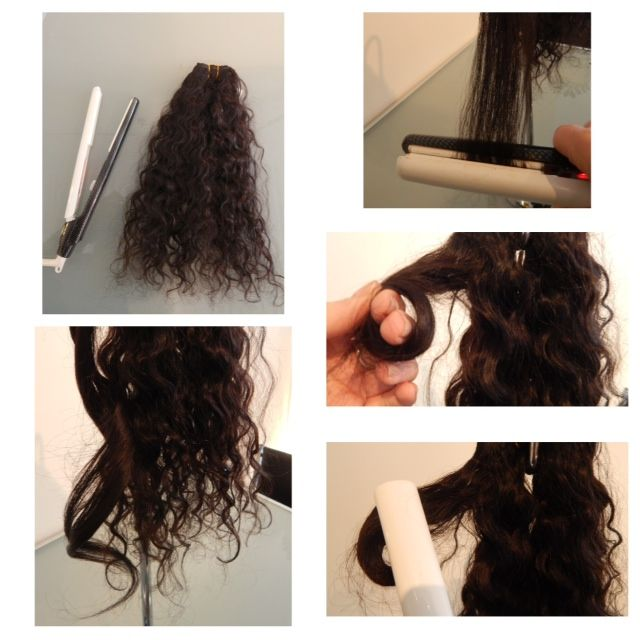 A Few Of You Ask If Our 16 Virgin Curly Hair Can Be Straightened And Styled And The Answer Is Yes Love Your Hair Heat Styling Products Curly Hair Styles