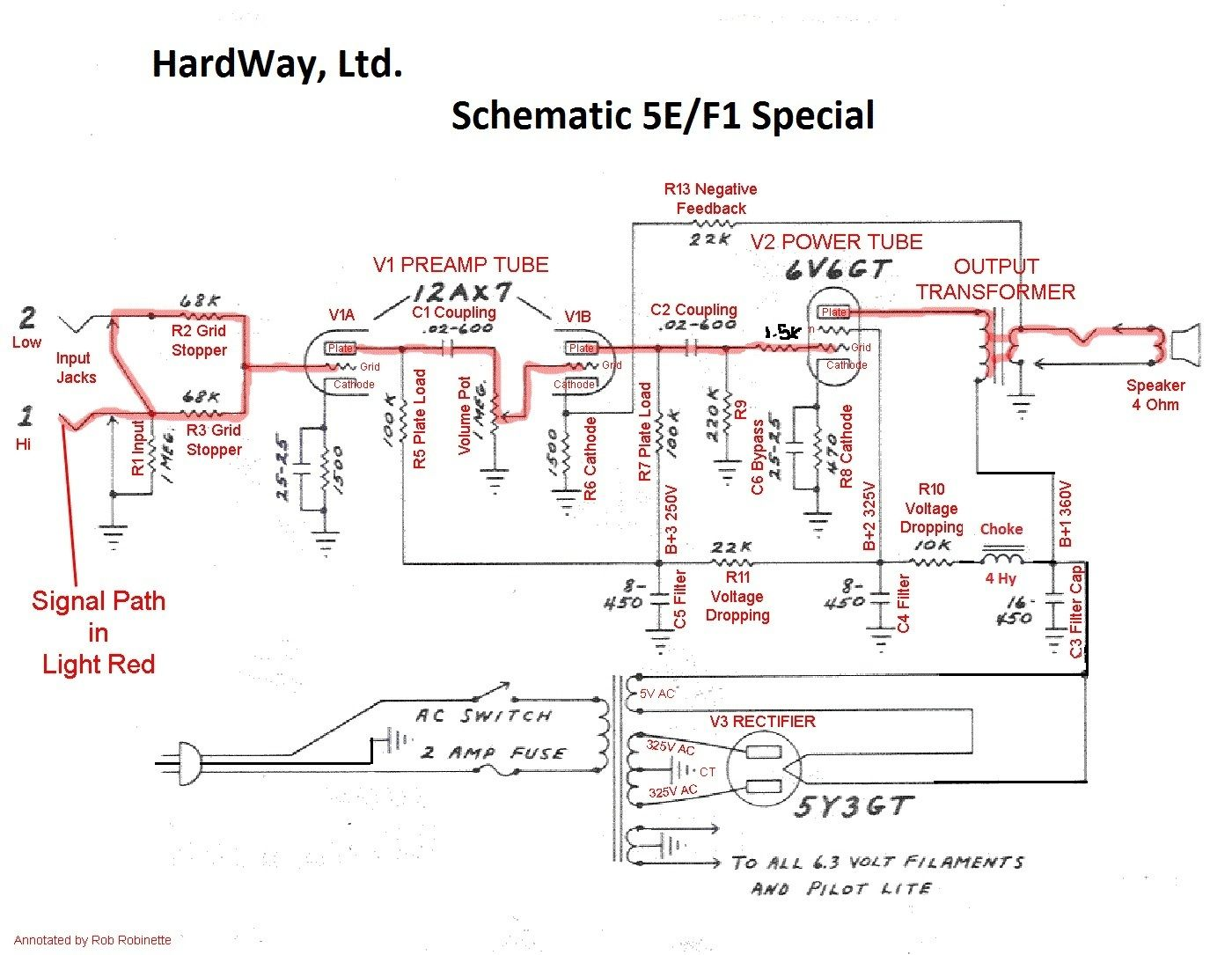 This Is The Schematic For The 5e  F1 Special Amp