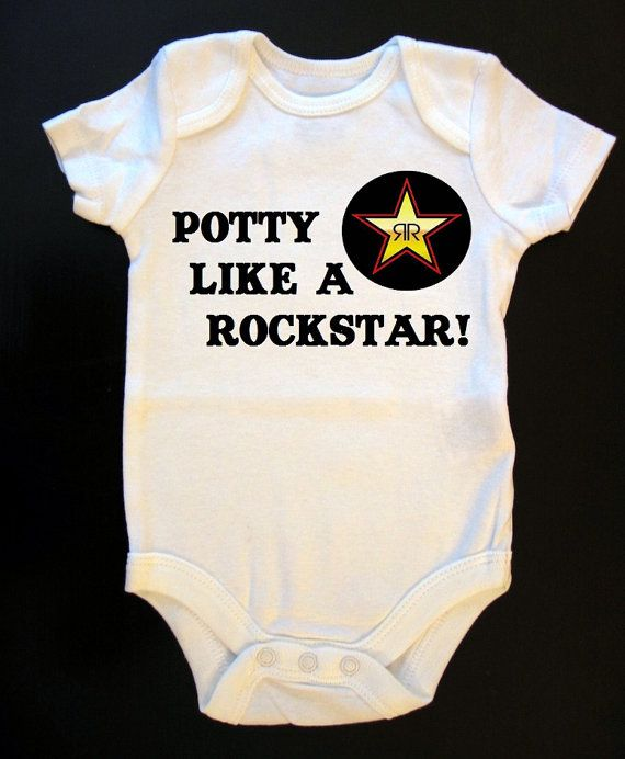 How cute! Potty Like A Rockstar Onesie or Toddler Shirt by SaucyToT on Etsy, $14.00