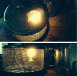 We do Wednesday: upcycled air filter lamp