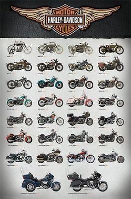 Harley Davidson Poster Motorcycle Collage Full Size 24x36 Print Evolution Harley Davidson Posters Harley Davidson Motorcycles Motorcycle Harley