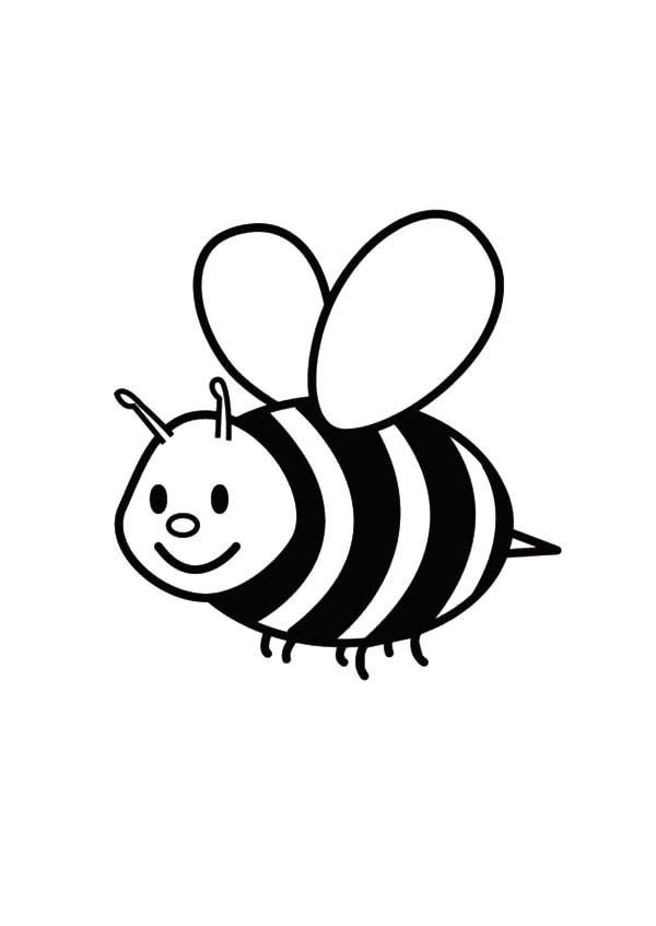Cute Bee Coloring Pages Cute Easy Bumble Bee Coloring Page Coloringcks In 2020 Bee Coloring Pages Insect Coloring Pages Coloring Pages