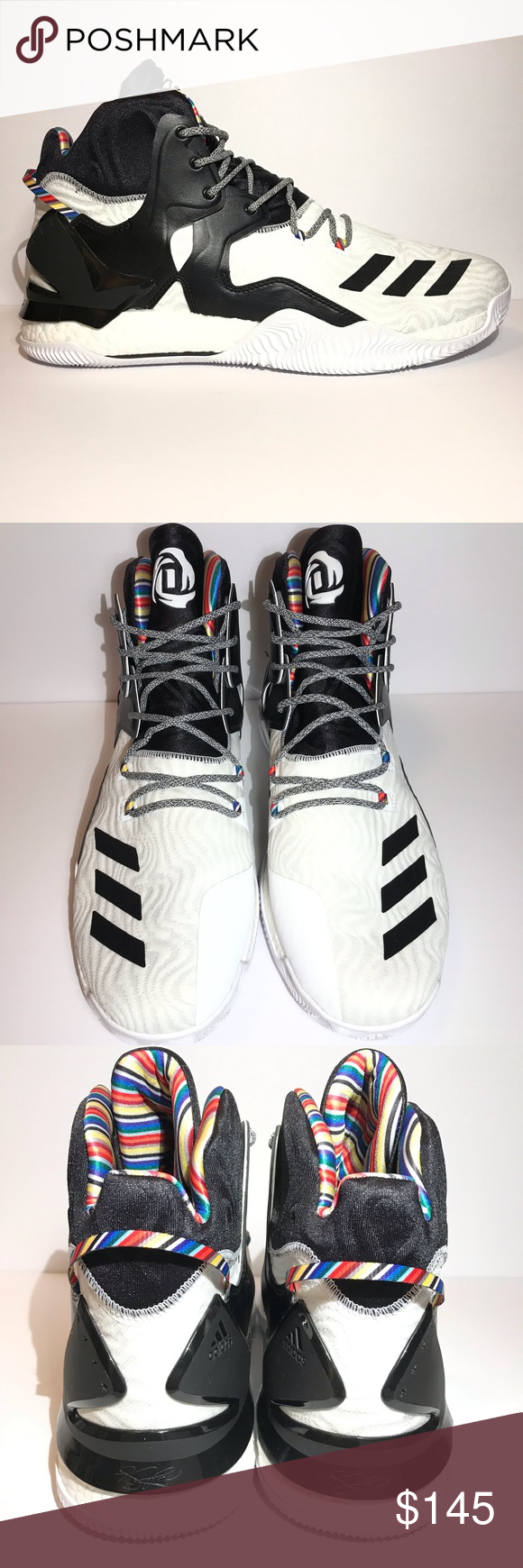 the latest 0d6f6 035c4 NEW Adidas D Rose 7 Boost BHM NWOT Never Worn Limited edition black history  month Arthur Ashe Style BY3475 Does not include box or hang tag adidas  Shoes ...
