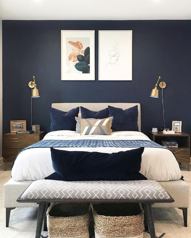 Stylish mid century bedroom