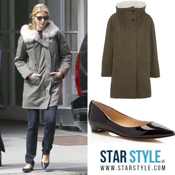 Ivanka Trump wore a Yves Salomon parka and Ivanka Trump shoes today  Shopping info at www