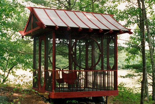 Tea house Asian exterior