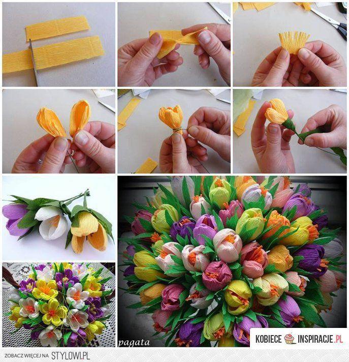 Bukiety Z Papieru Kobieceinspiracje Pl Na Stylowi Pl Paper Flower Tutorial Tissue Paper Flowers Paper Flowers Diy
