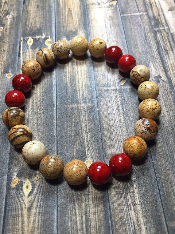 Photo of Mala bracelet men, men's bracelet, pearl bracelet, stretch bracelet, jewelry, gifts for him, bracelet, yoga jewelry