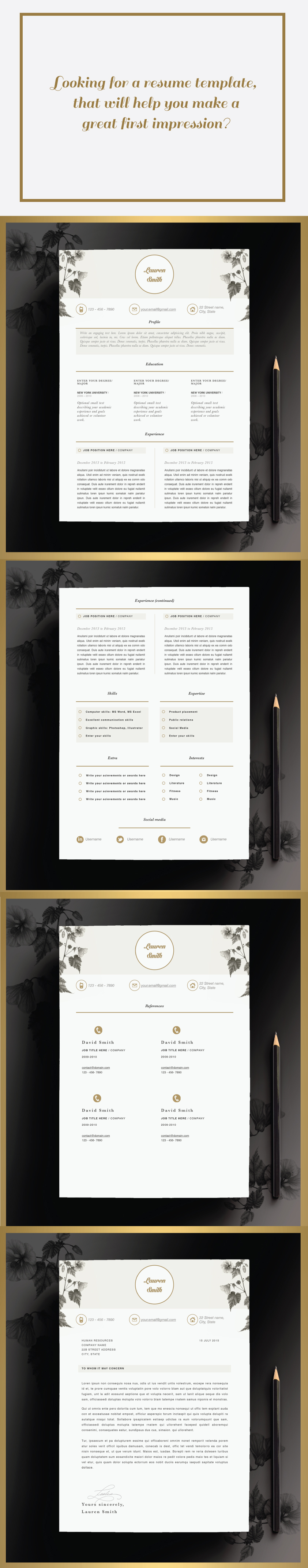 Check out amazing resume template made by CVdesign.co You can find us on Etsy <3