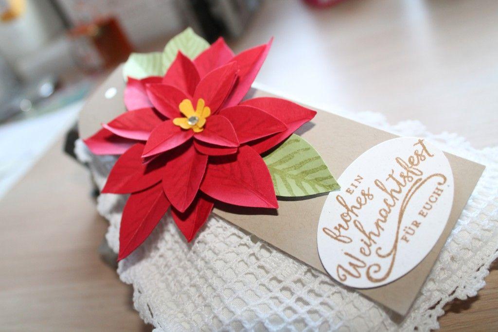 Weihnachtswunder einen Zauberhaften Weihnachtsstern mit Stempeltagebuch.de