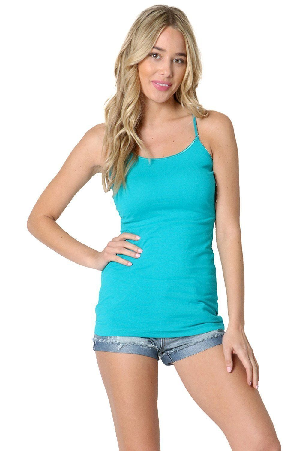 6488611c7b9c0 JUNIORSIZE   PLUS SIZE - A BASIC LONGLINE CAMI WITH ADJUSTABLE STRAPS AND A  ROUND