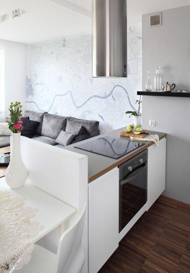 Wohnideen Essecke wohnzimmer küche essecke weiß grau offener wohnbereich home
