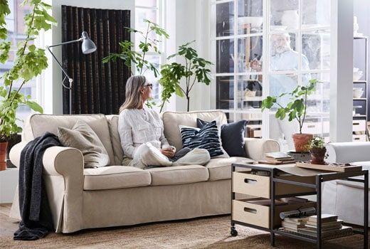 Canapé Tissu 3 Places Ektorp Beige Ikea Dream Home En 2019