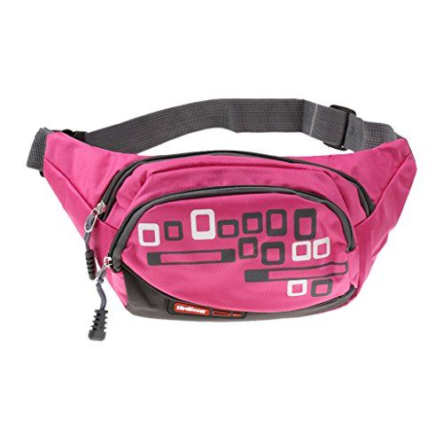 Breast Cancer Flag Sport Waist Packs Fanny Pack Adjustable For Hike