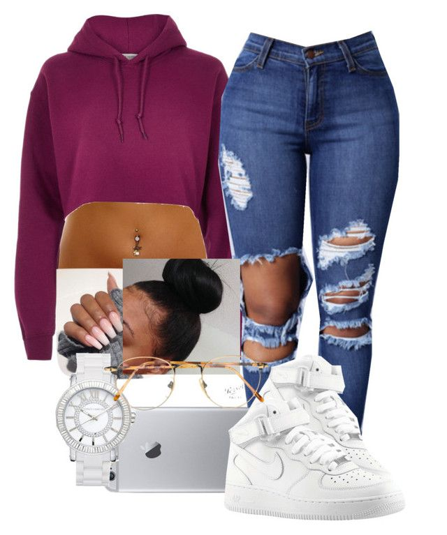 """""""Needed me"""" by arii-bankss ❤ liked on Polyvore featuring River Island, NIKE, Vince Camuto and Persol"""