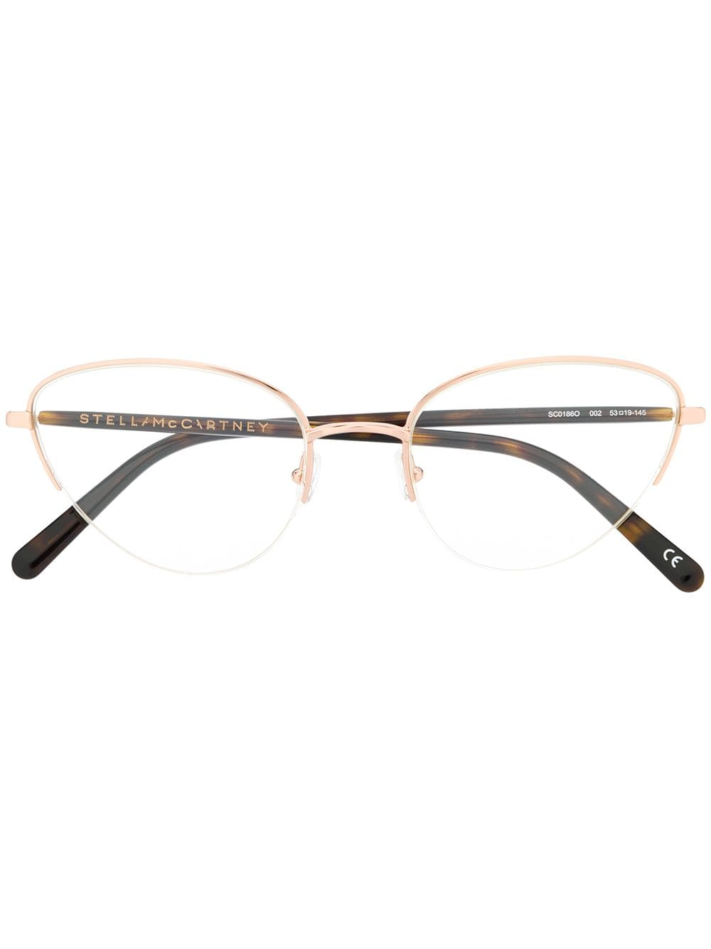 fca03c7e2862 Stella McCartney Eyewear cat eye frame glasses - Brown in 2019 ...