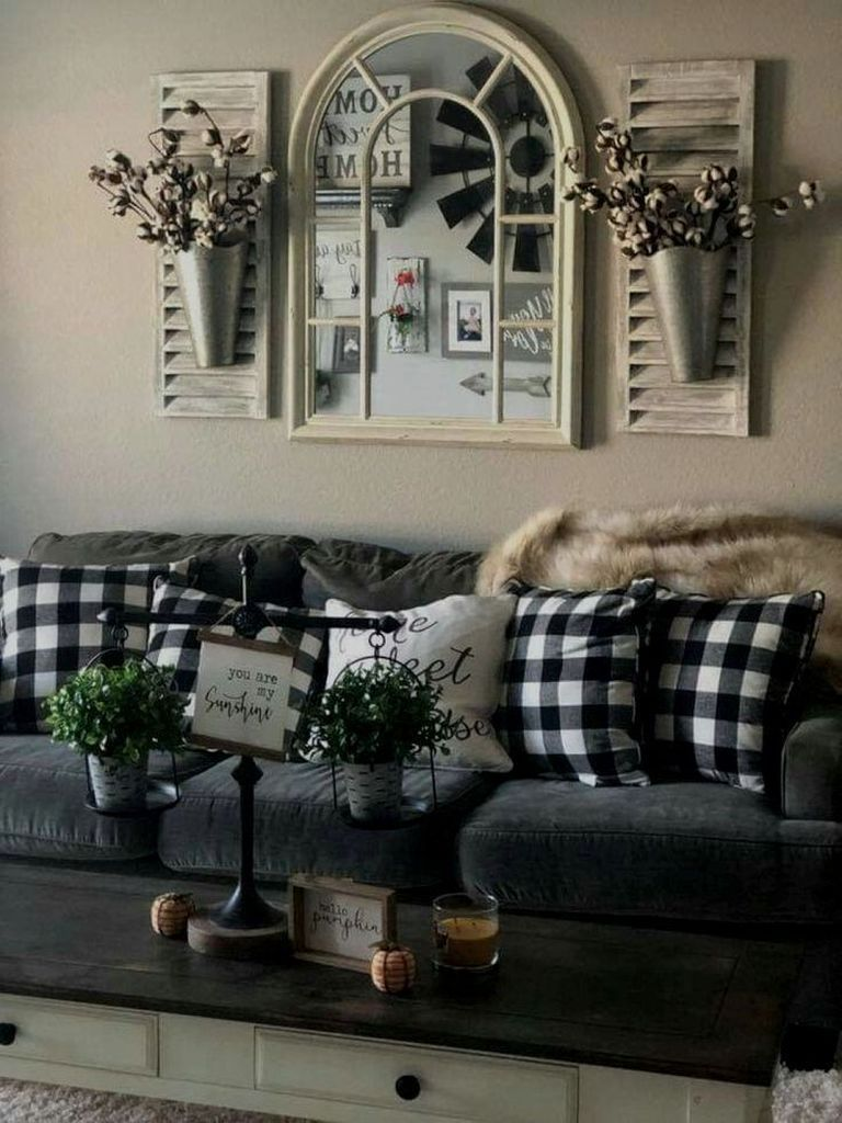43 amazing wall decoration for large living room with