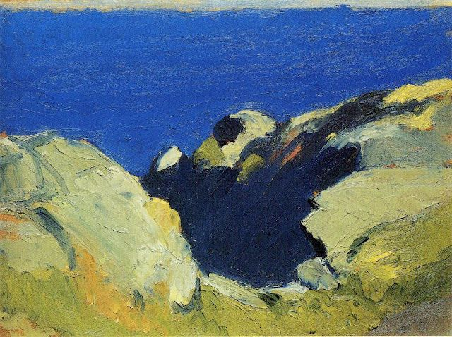 "bofransson: ""Edward Hopper, Rocks & Sea 1919 """