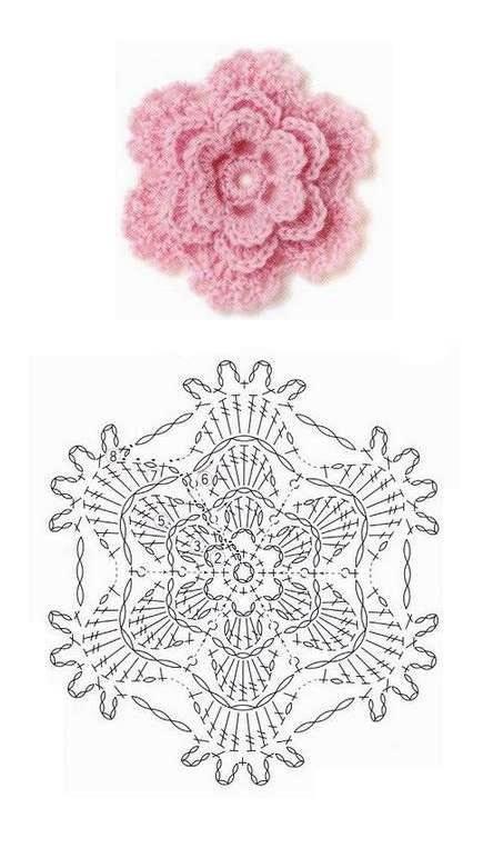 flores | flor de Crochê | Pinterest | gehäkelte Blumen, kostenlose ...
