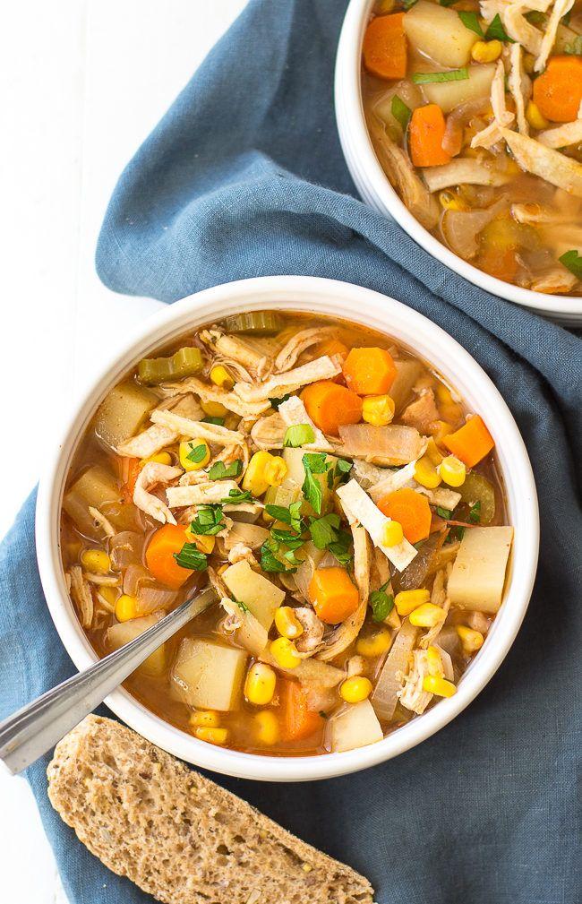 Crock Pot Spicy Chicken Soup Recipe - Easy Spicy Chicken ...