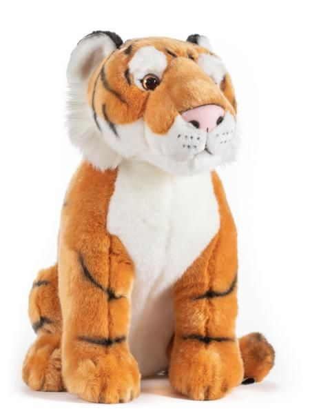 15 Inch Stuffed Tiger Plush Animal Kingdom Collection In 2021 Tiger Stuffed Animal Plush Animals Realistic Stuffed Animals