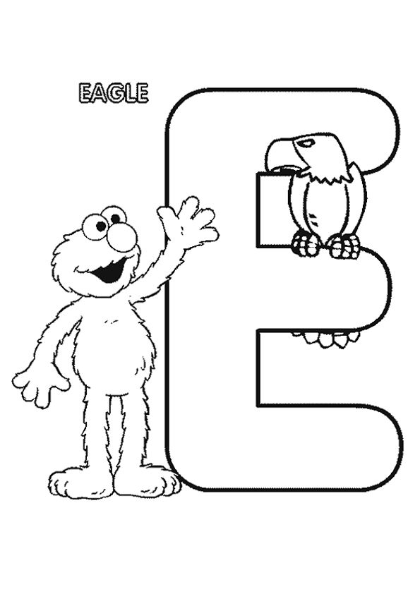 print coloring image Learning and Activities - copy elmo coloring pages birthday