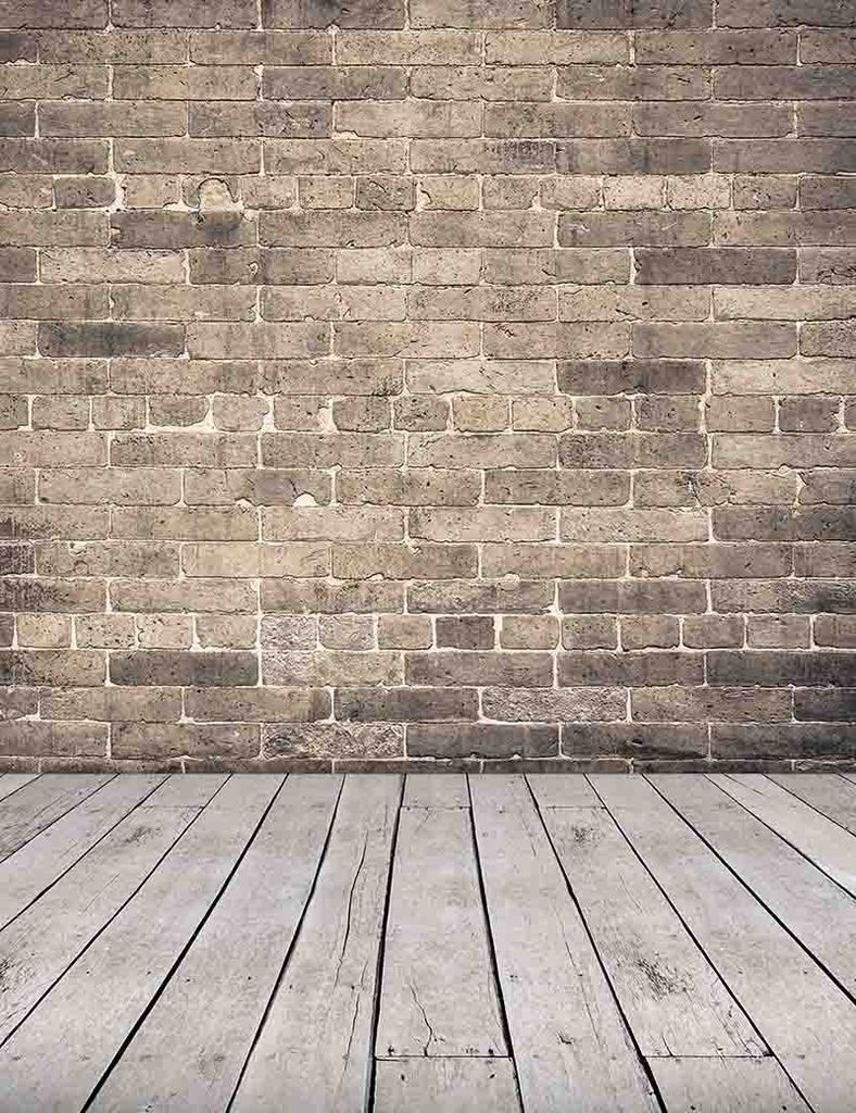 aa7d46c2b05996 Senior Gray Red Brick Wall With Old Wood Floor Photography Backdrop ...