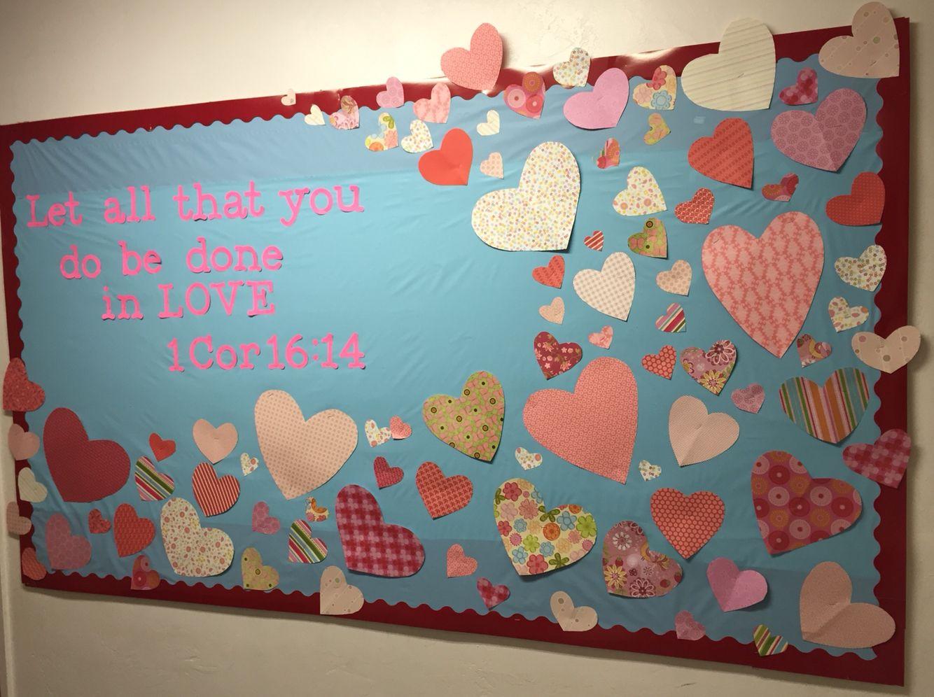 Valentine S Day Bulletin Board For Sunday School Or Church