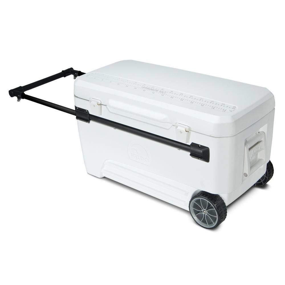 Igloo Glide Pro 110 Qt 2 Wheeled Cooler With Retractable
