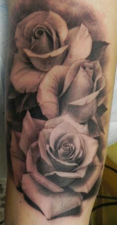 62753bfbb Open and closed roses 3 Roses Tattoo, Rose Tattoo Ideas, Lace Flower Tattoos ,