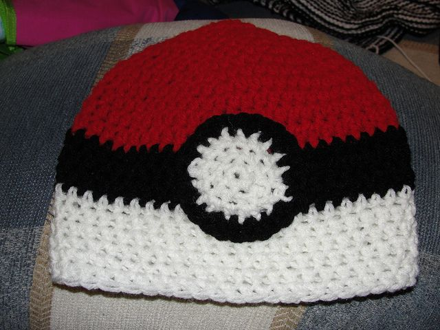 Free Pokeball Crochet Hat Pattern Crochet Pinterest Crochet