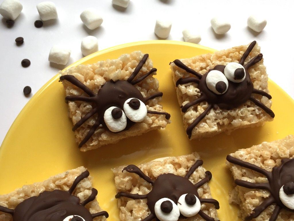 spider rice krispie treats easy halloween treats