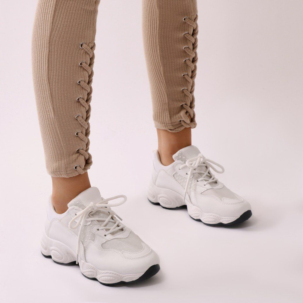 c116cc9801 Cheetah Chunky Trainers in White | Shoes/Socks | Shoes, Trainers ...