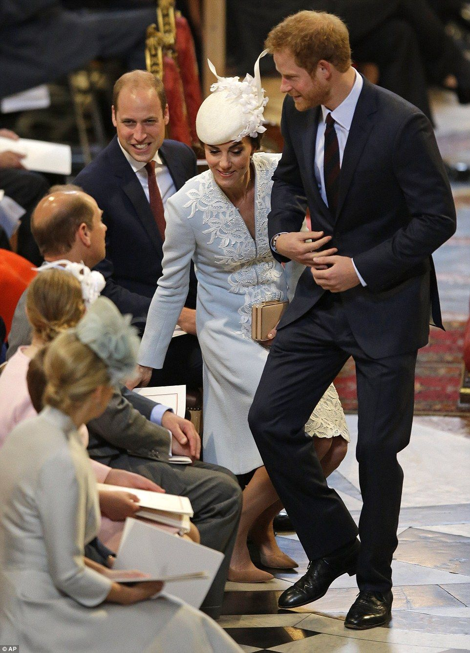 The Duchess took her seat alongside William's uncle Prince Edward