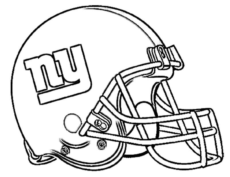 Football Helmet New York Giants Coloring Page Sports Coloring
