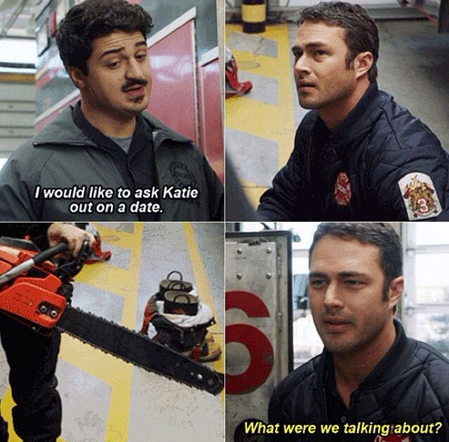 Otis and Kelly - Chicago Fire, don't mess with the sister!