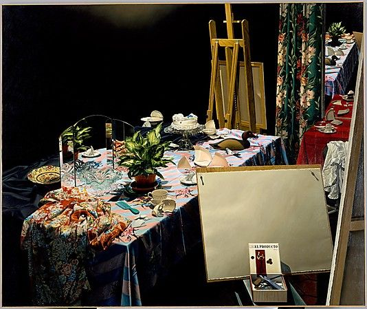 Still Life with Decoy  James Valerio  Oil on Canvas  84 x 100 in