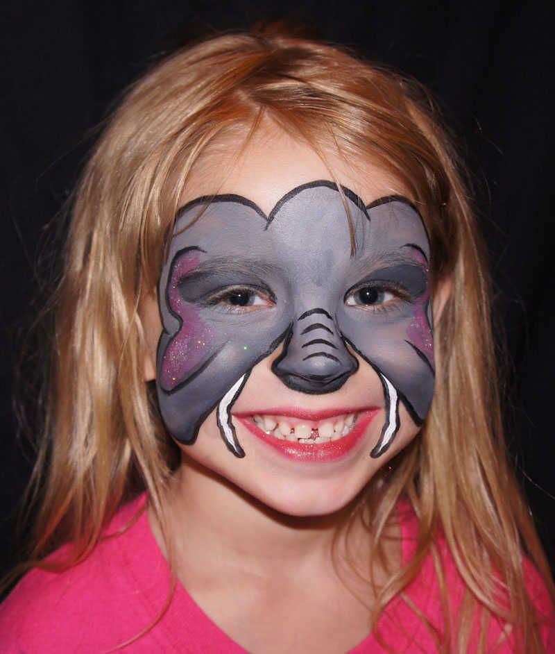 elephant face paint - Google Search | Maquillages carnaval ...