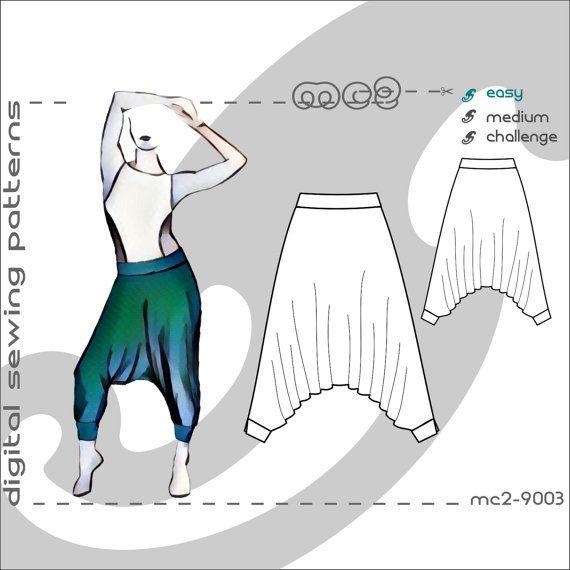 Harem Sarouel Afghan Yoga Pants (sizes S-M-L-XL) Digital PDF Sewing ...