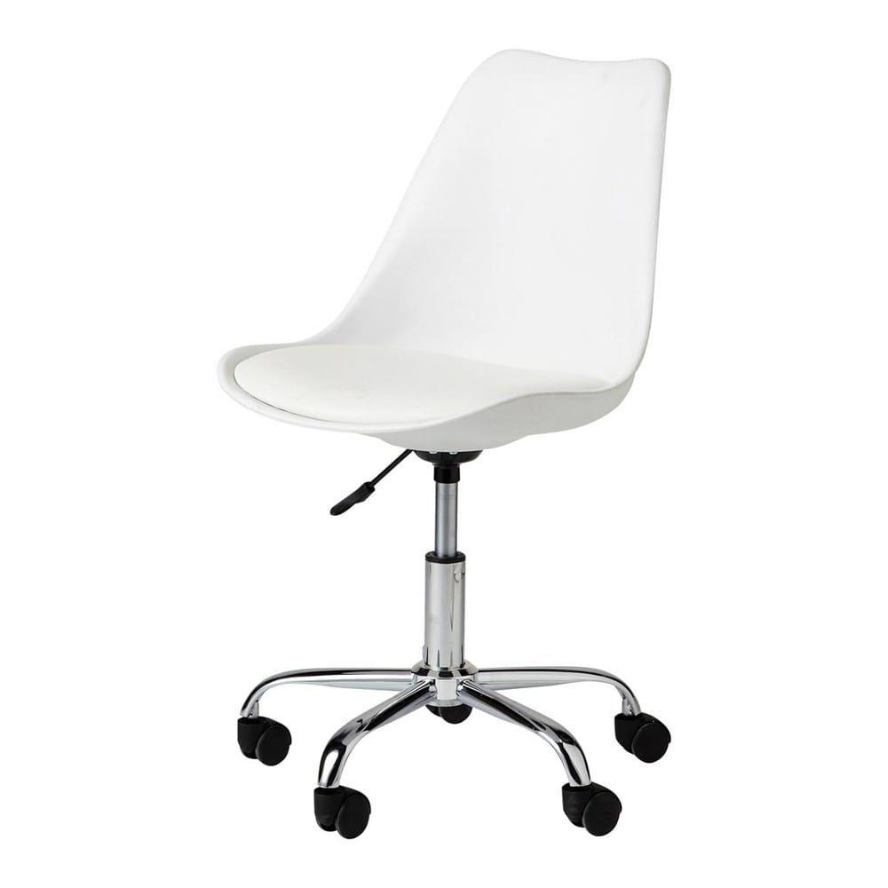Silla De Oficina Con Ruedas Blanca Bristol Chaise De Bureau Blanche Chaise Bureau Bureau Blanc