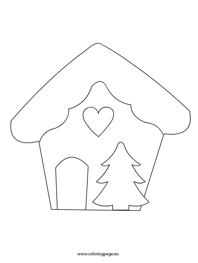Christmas House Template Christmas Pinterest Template Felting