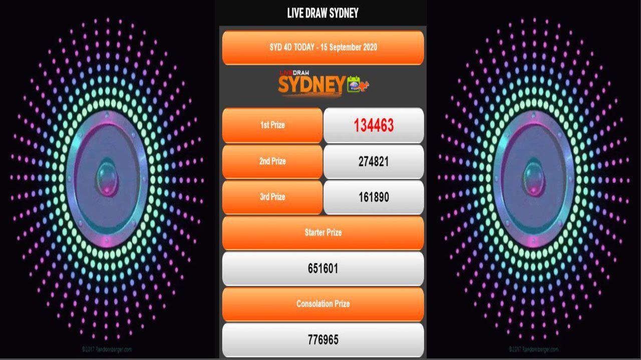 Live Draw Sydney Hari Ini 16 September 2020 Sydney September 16 September